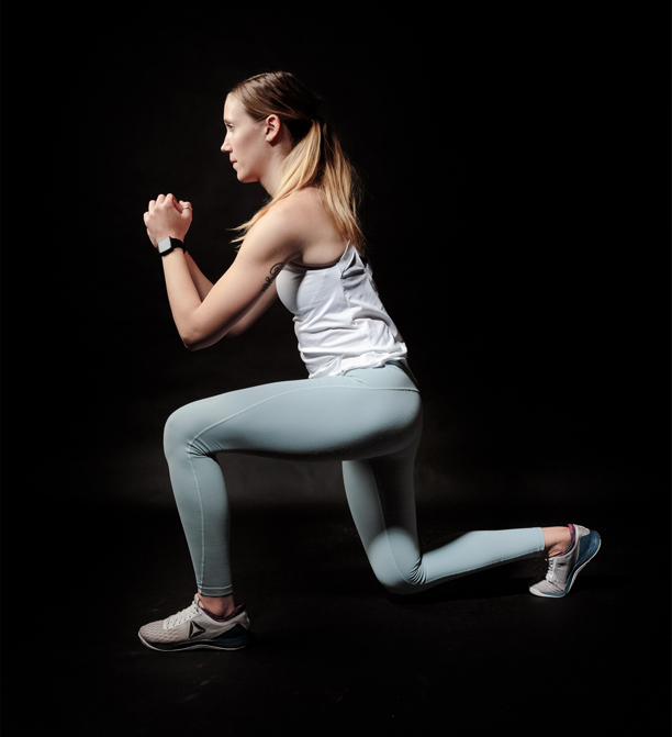 Woman Lunging MMA