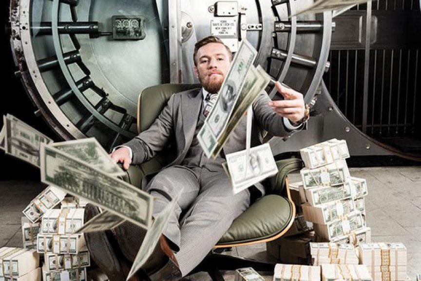 Conor McGregor throwing money