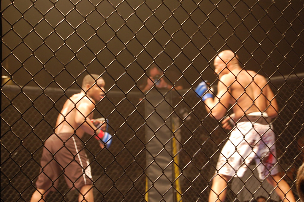 Two amateur MMA Fighters competiting