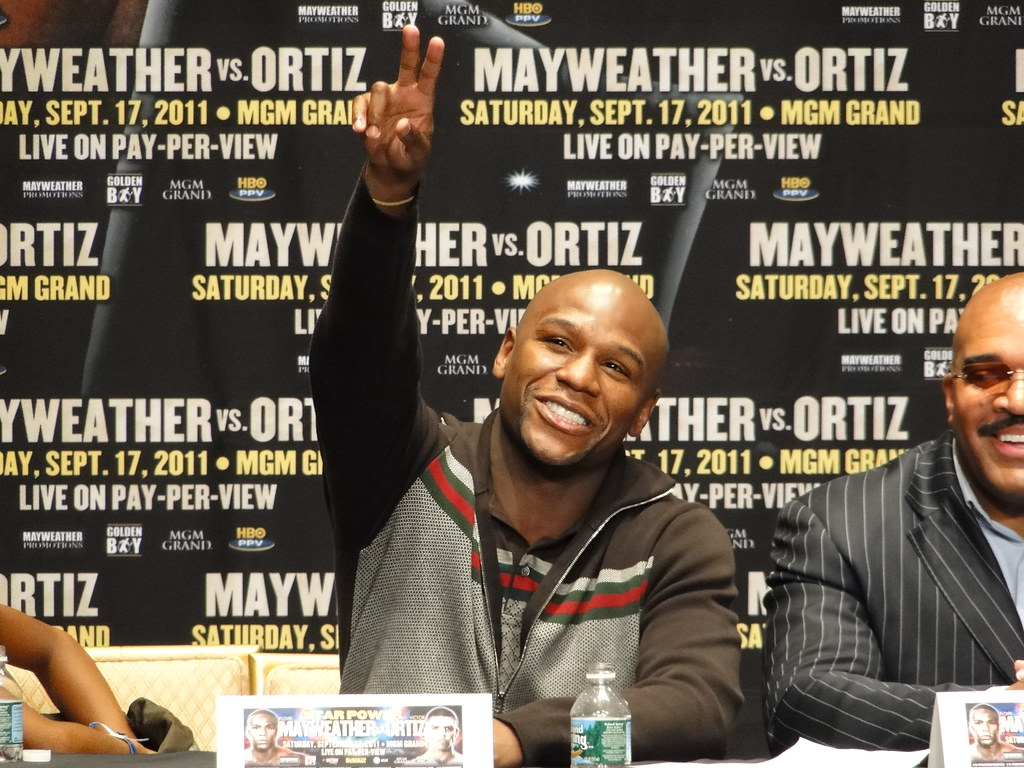 Mayweather at pressconference
