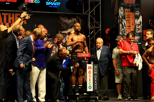 Mayweather Weigh in